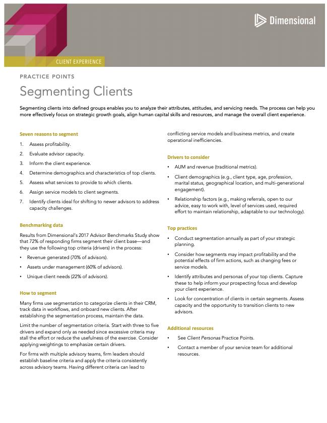 Segmenting Clients Document